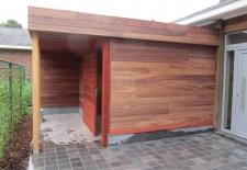 bijgebouw in houtskelet + bekleden in padock te koksijde